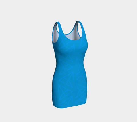 FirePower Blue LogoPrint BodyCon Dress