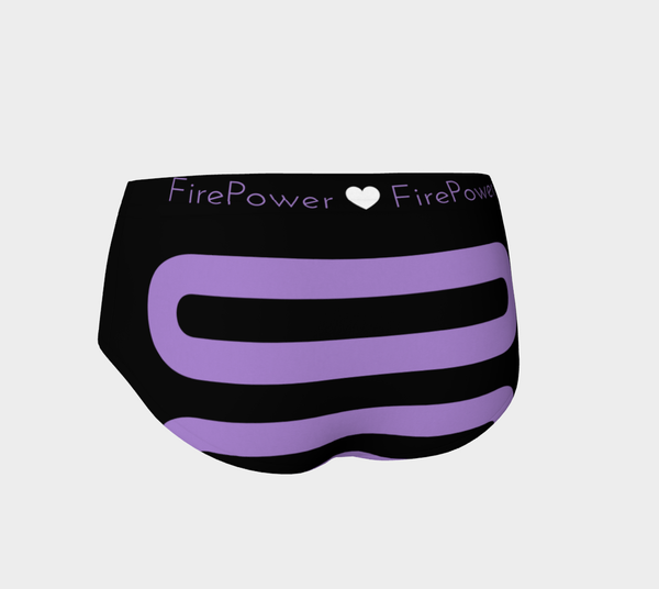 "Purple Geo ""Track"" Micro FirePower Shorts"