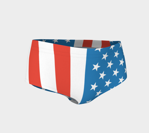 American Flag Track/Swim Micro FirePower Shorts