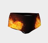 Hearts on Fire Track/Swim Micro FirePower Shorts
