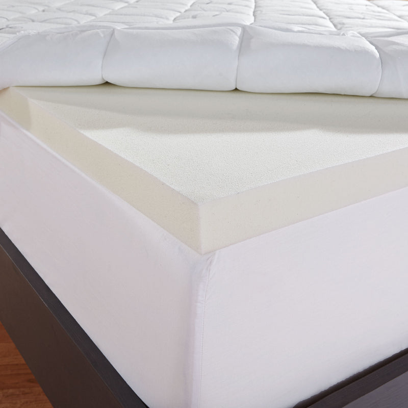 Instant Pillow Top Memory Foam and Fiber Mattress Topper