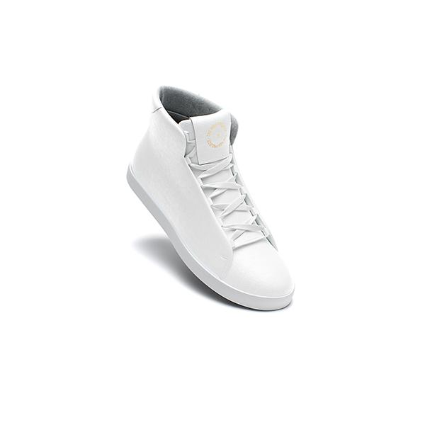 Classic White High Top Trainer