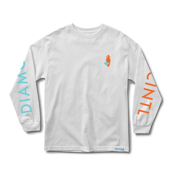 PNCINTL x Diamond Long Sleeve White T-Shirt
