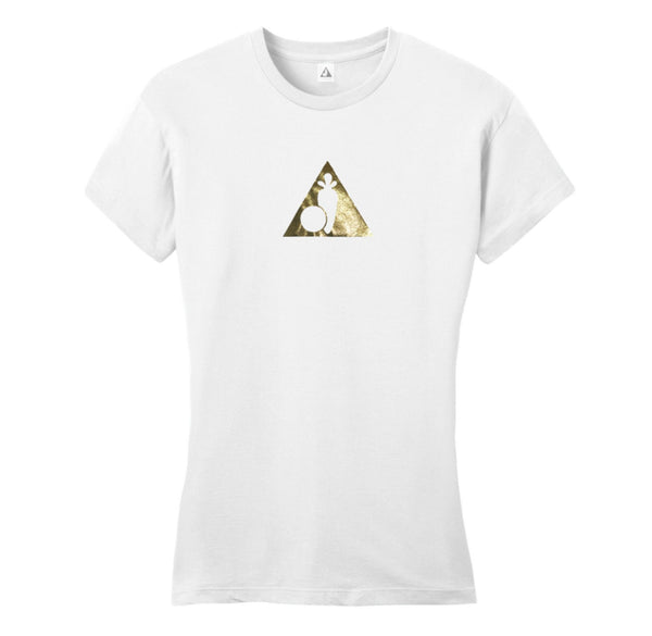 Casey Veggies Triangle PNC Ladies T-Shirt - White