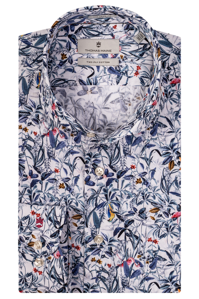 THOMAS MAINE Bird Print Shirt