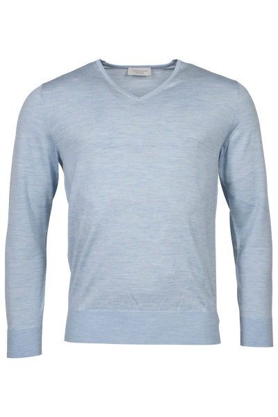 THOMAS MAINE Superfine Merino Wool V-Neck