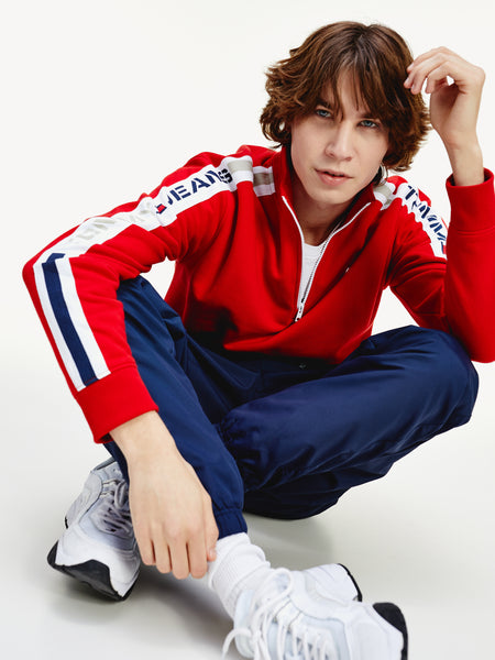 TOMMY JEANS TH Cool Logo Half-Zip Tracksuit Jacket