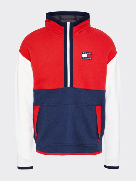 TOMMY JEANS Tommy Badge Colour-Blocked Zip Hoody