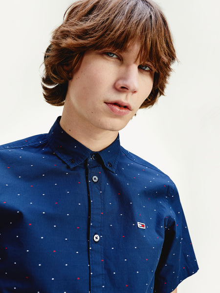TOMMY JEANS Abstract Pattern Short Sleeve Shirt