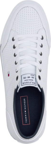 TH CORE SIGNATURE LEATHER LACE-UP TRAINERS