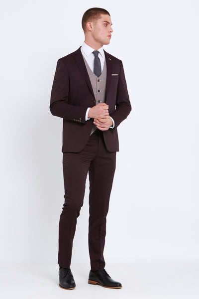 TRAVIS by BENETTI Louis Suit (Wine)