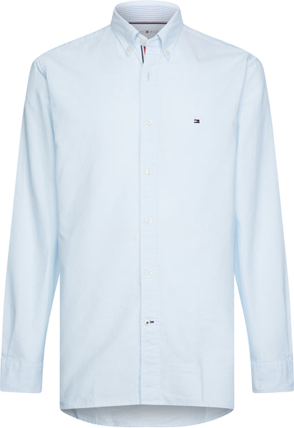 TOMMY HILFIGER CONTRAST TRIM ORGANIC COTTON SHIRT