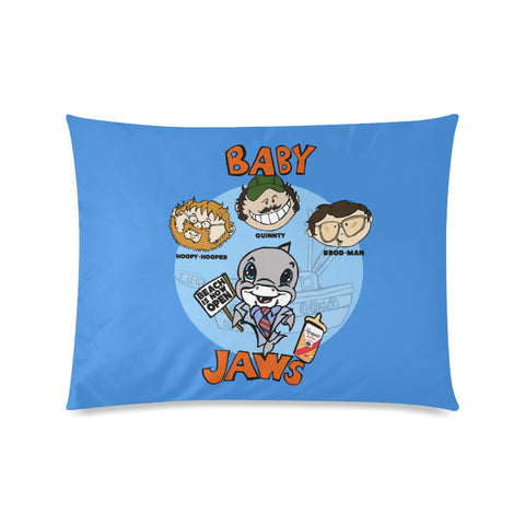BABY JAWS POSTER BLUE PILLOW CASE