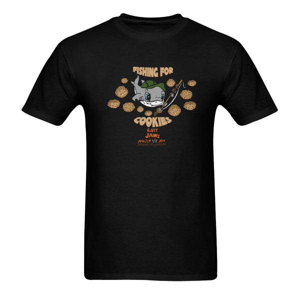 MEN'S-FISHING FOR COOKIES-BLACK SHORT SLEEVE