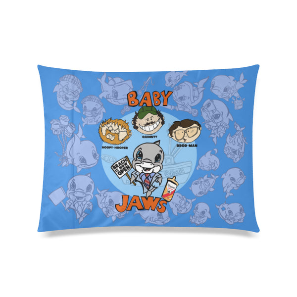BABY JAWS BLUE ALLOVER POSTER PILLOW CASE
