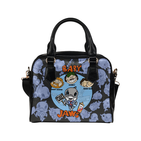 BABY JAWS BLACK POSTER MOMMY HANDBAG MEDIUM