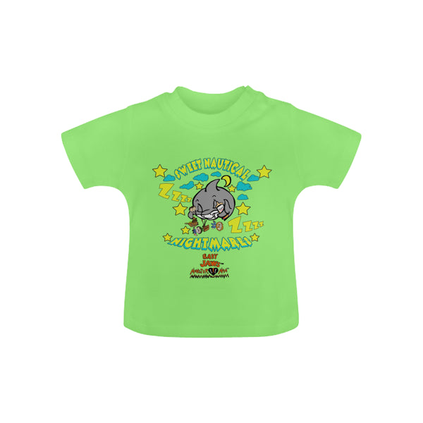 INFANT-TODDLER -LIMITED EDITION -SLIM GREEN SHORT SLEEVE - SWEET NAUTICAL NIGHTMARES