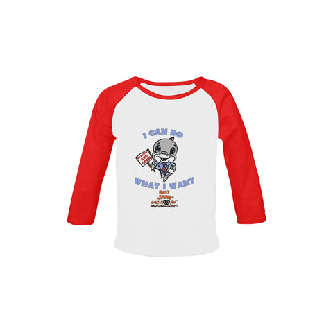 INFANTS- TODDLERS-I CAN DO WHAT I WANT-RETRO RED LONG SLEEVE SHIRT