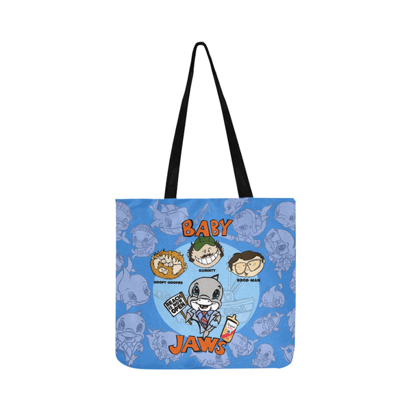 BABY JAWS BLUE POSTER BEACH TOTE BAG 2 SIDED