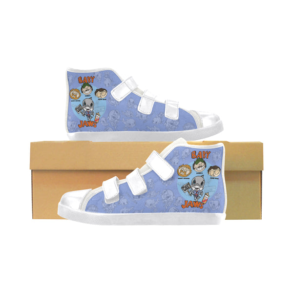 BABY JAWS POSTER HIGH TOP VELCRO KIDS SHOES WHITE