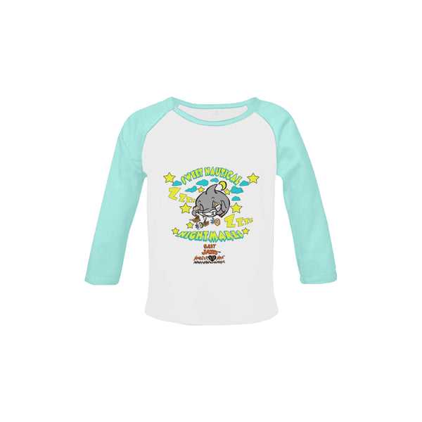 INFANT-TODDLER-SWEET NAUTICAL NIGHTMARES-BABY BLUE RETRO LONG SLEEVE