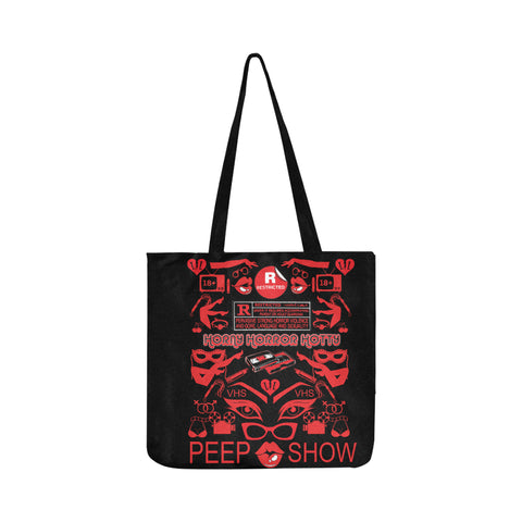 RESTRICTED VHS PATTERN-TOTE BAG ( TWO SIDED )