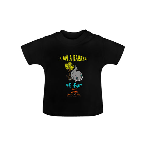 INFANT- TODDLER- I AM A BARREL OF FUN-BLACK SHORT SLEEVE SHIRT