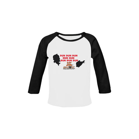 INFANT-TODDLERS -DUN DUN DUN SONG-RETRO BLACK LONG SLEEVE SHIRT