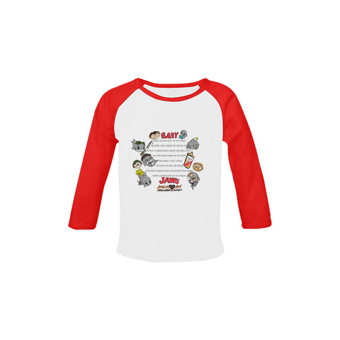 INFANT-TODDLER-SING A LONG-RETRO RED LONG SLEEVE SHIRT