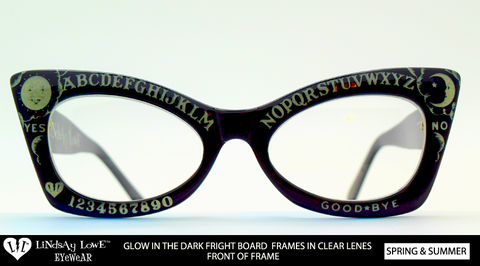 *LIMITED* Fright Board Glow In The Dark Frame / Clear Lenses