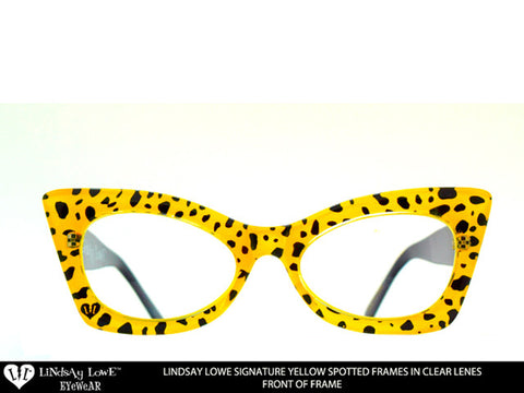 *LIMITED* Lindsay Lowe Signature 3D Yellow Spotted Clear Lenses