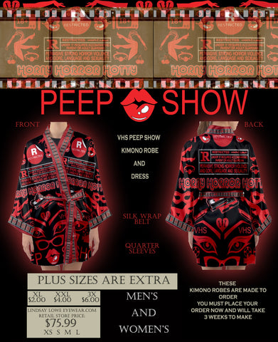 VHS PEEP SHOW KIMONO  ( WOMEN'S AND MEN'S )