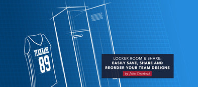 Locker Room and Share – Easily Save, Share And Reorder Your Team Designs