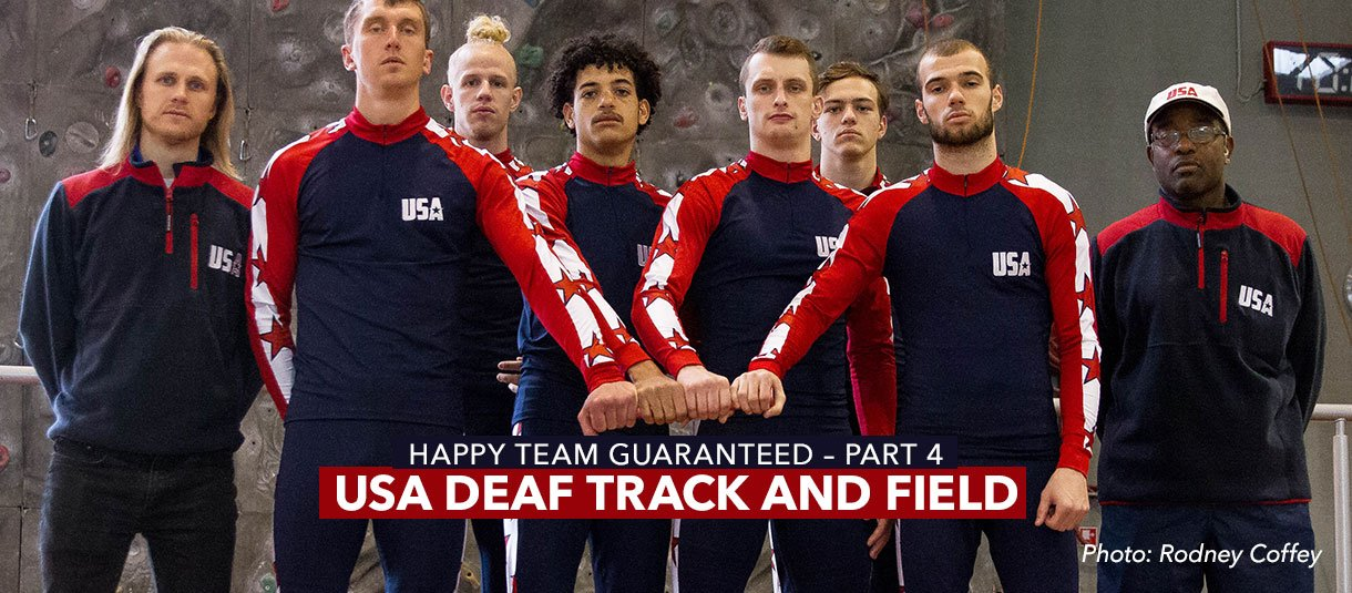 USA DEAF TRACK & FIELD - Happy Team Guaranteed