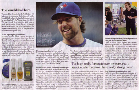 R.A. Dickey uses Trind Products