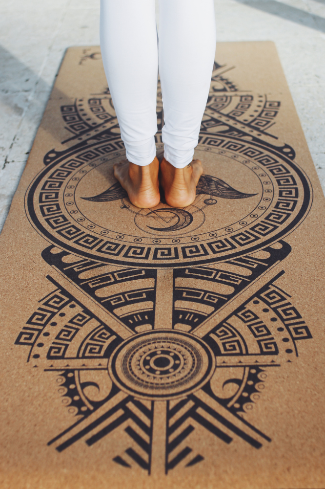Cork Yoga Mat - Stingray