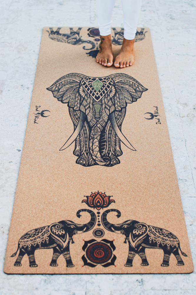 Cork Yoga Mat - Elephant
