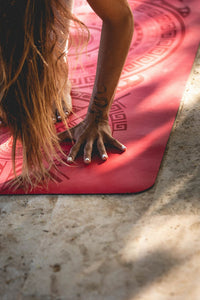 Sticky Yoga Mat - Chili Pepper Red
