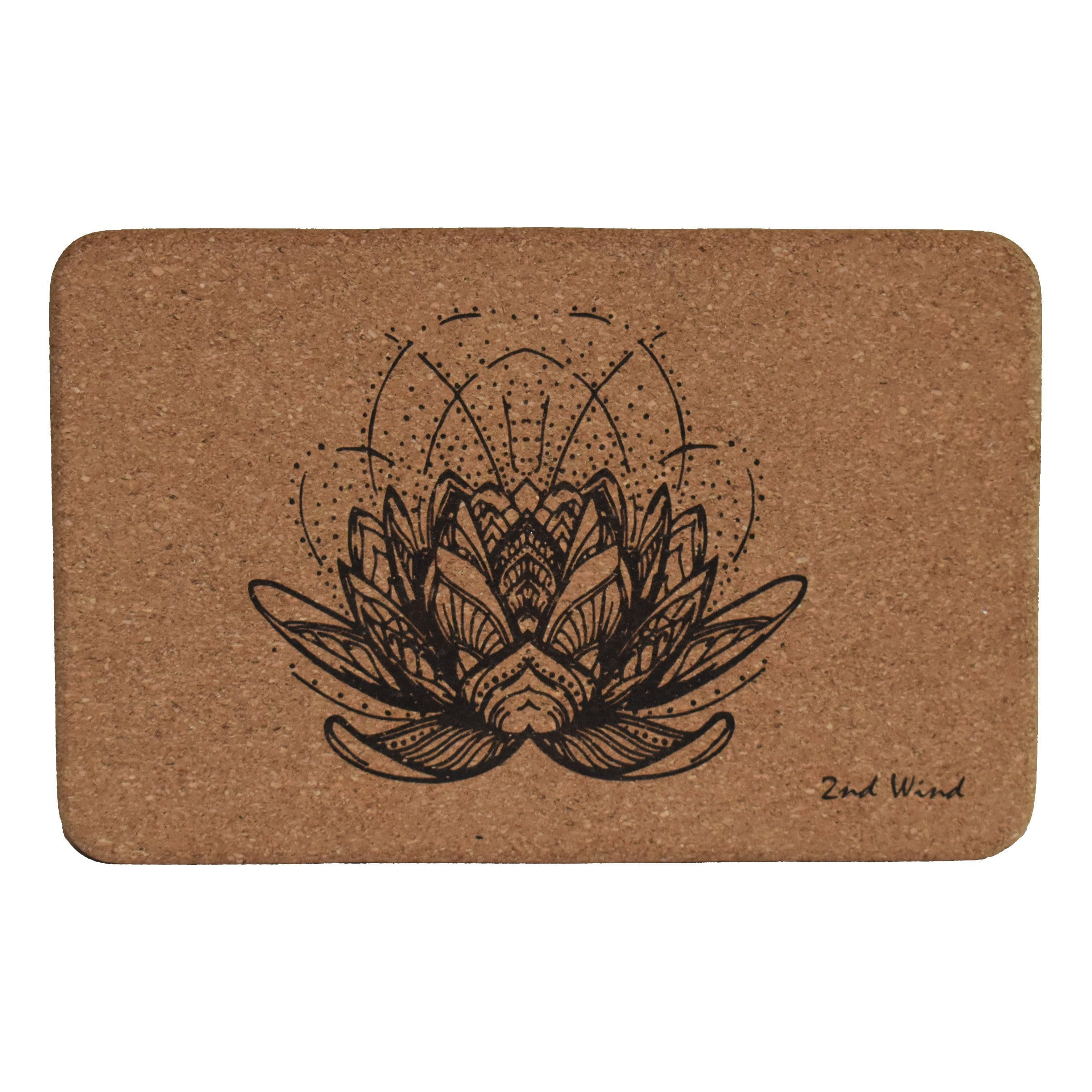 Cork Yoga Block - Lotus