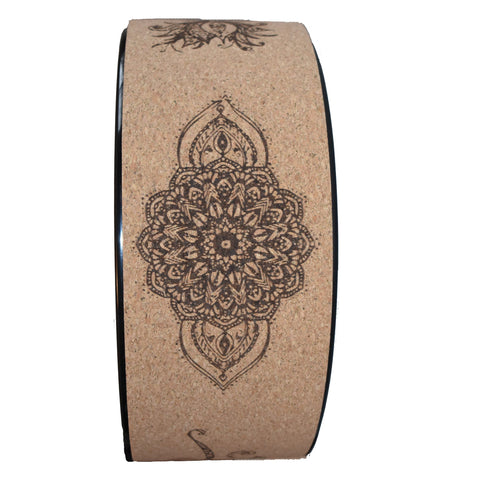 Lotus Flower Cork Yoga Wheel