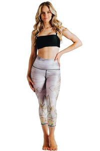 Monsoon Medley Printed Yoga Crops
