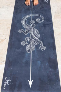 Towel Infused Yoga Mat - Gecko