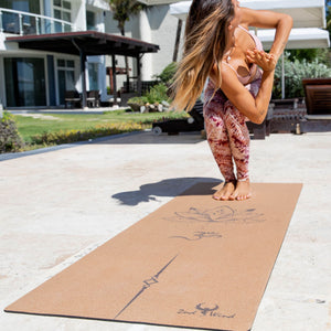 Cork Yoga Mat - Lotus