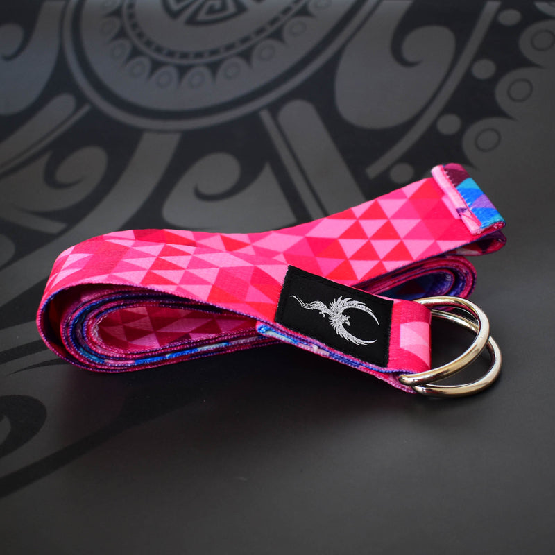 Yoga Strap - Pink Digital