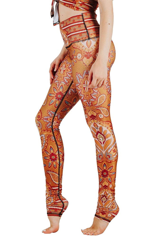 Rad Paisley Printed Yoga Leggings