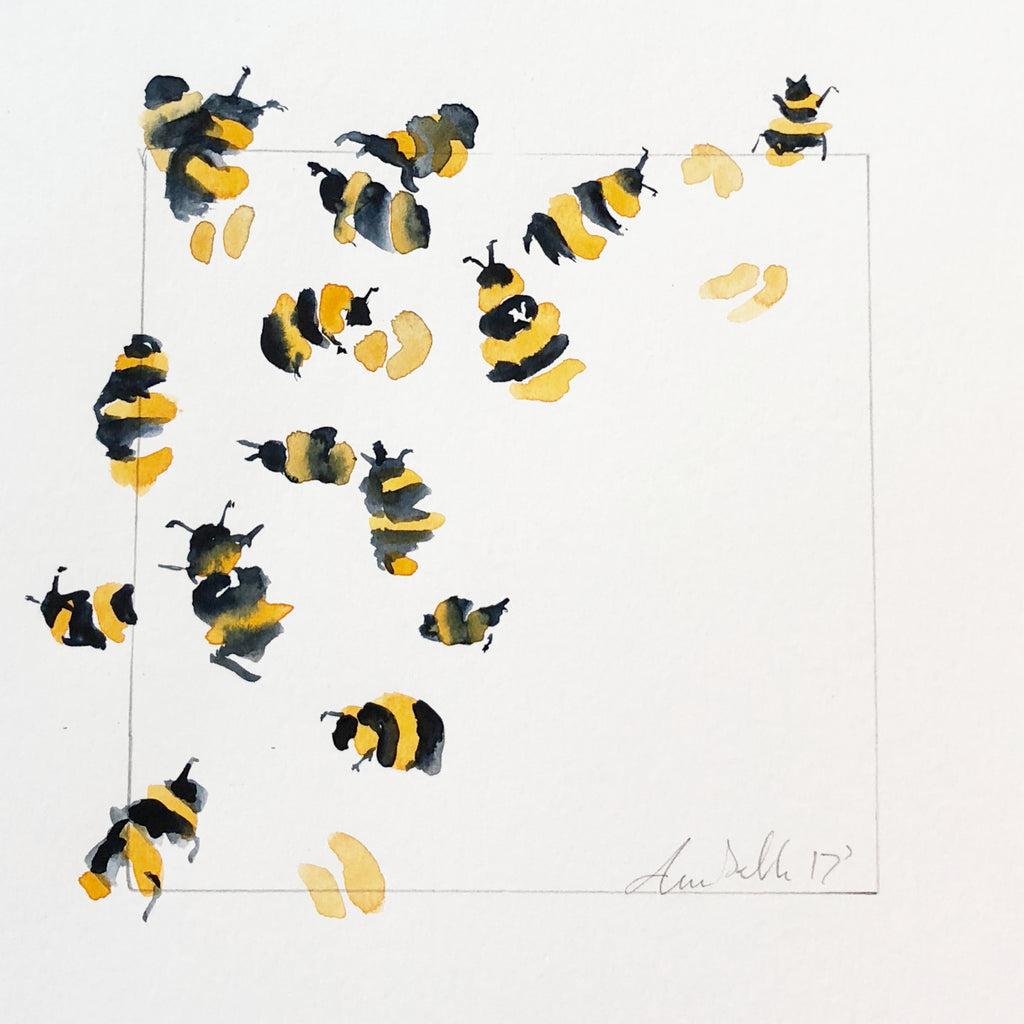 Bees - An Original Watercolour Painting