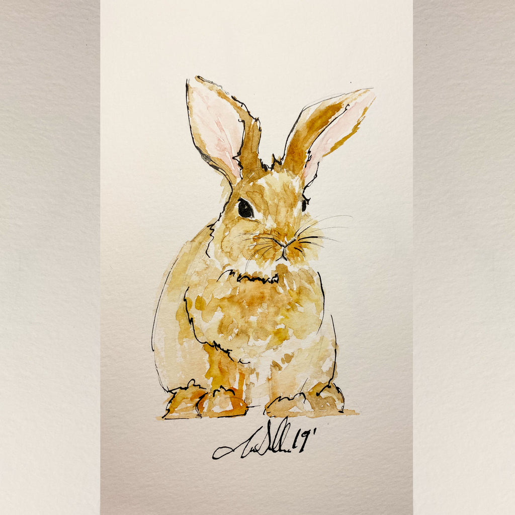 Rabbit - An Original Watercolour Painting