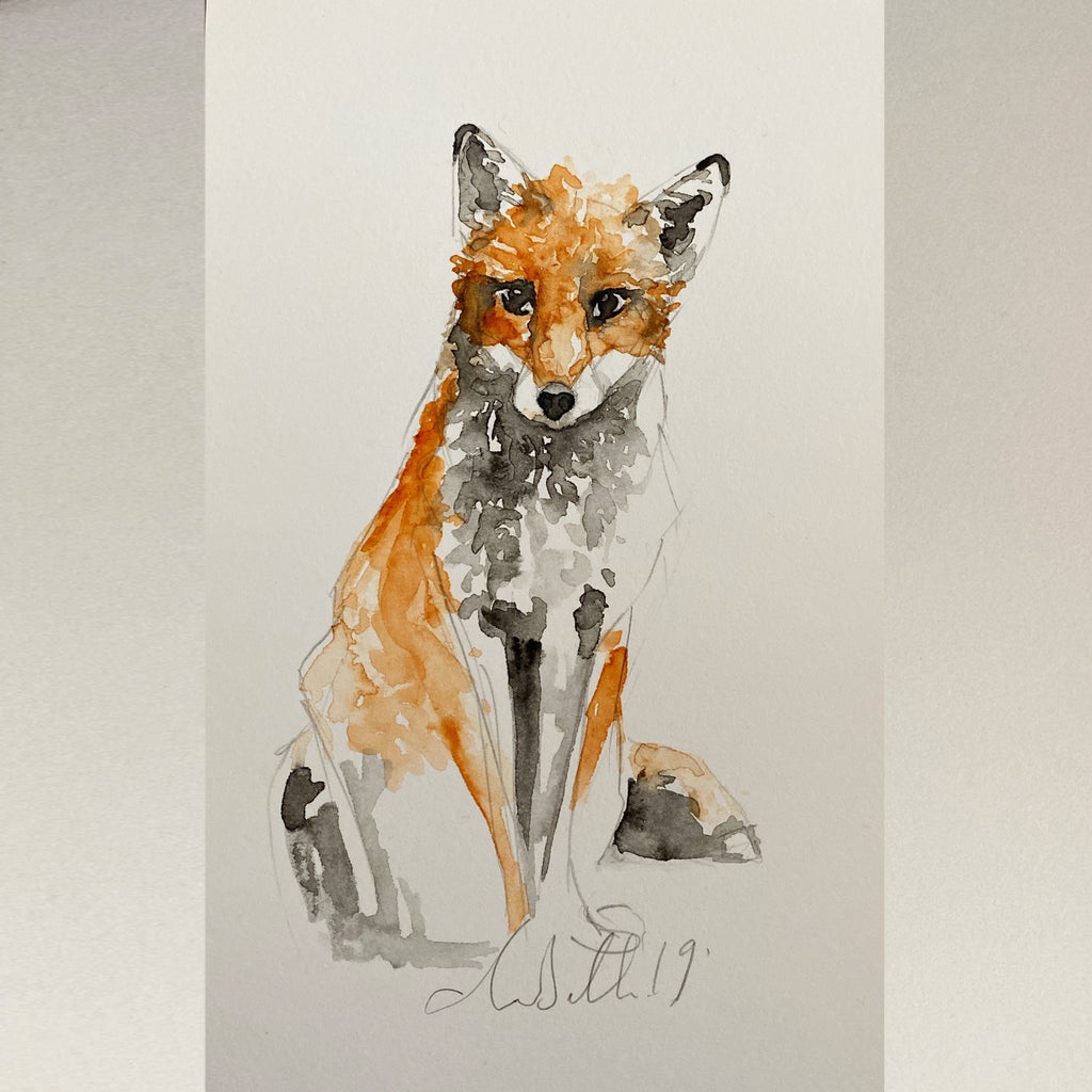 Fox - An Original Watercolour Painting