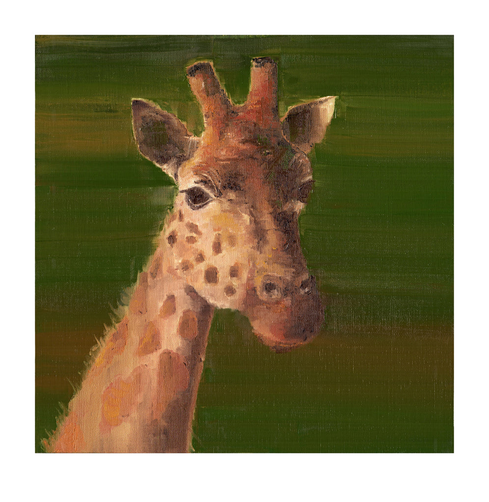 Giraffe on Green - Limited Edition Print