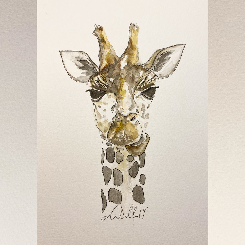 Giraffe - An Original Watercolour Painting